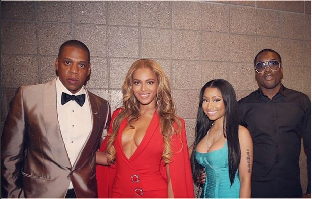 Beyonce, Jay Z, Nicki Minaj, Meek Mill at Mayweather Pacquiao Fight - May 2015 3