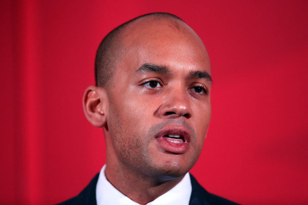 LONDON, ENGLAND - APRIL 09:  Labour Business, Innovation and Skills spokesman Chuka Umunna speaks during the launch of his party's education manifesto on April 9, 2015 in London, England. The manifesto was launched as the election campaign entered its second week.  (Photo by Carl Court/Getty Images)