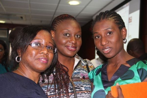 Head, Events and Sponsorships, Etisalat Nigeria, Modupe Thani (Middle), & Manager, Public Relations, Etisalat Nigeria, Chineze Amanfo (Right)