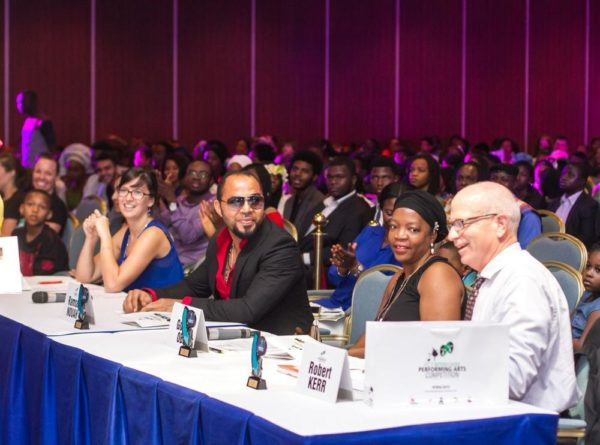 Alice O'Reilly, Ramsey Nouah, Golda Obi, & Robert Kerr (Judges of The FCT Inter-school Performing Arts Competition 2015)