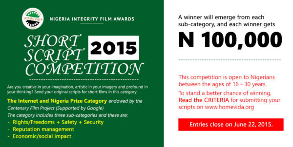 HomeVida Call for Scripts Competition 2015 - BellaNaija - May2015001