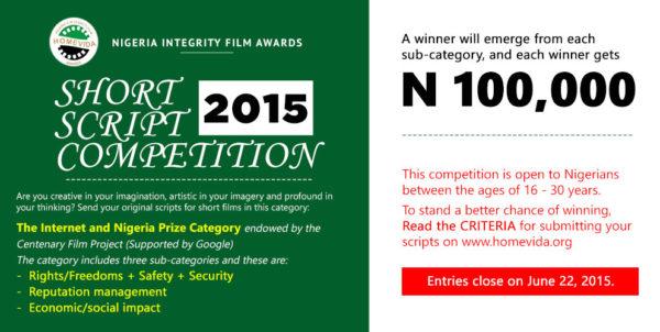 HomeVida Call for Scripts Competition 2015 - BellaNaija - May2015001