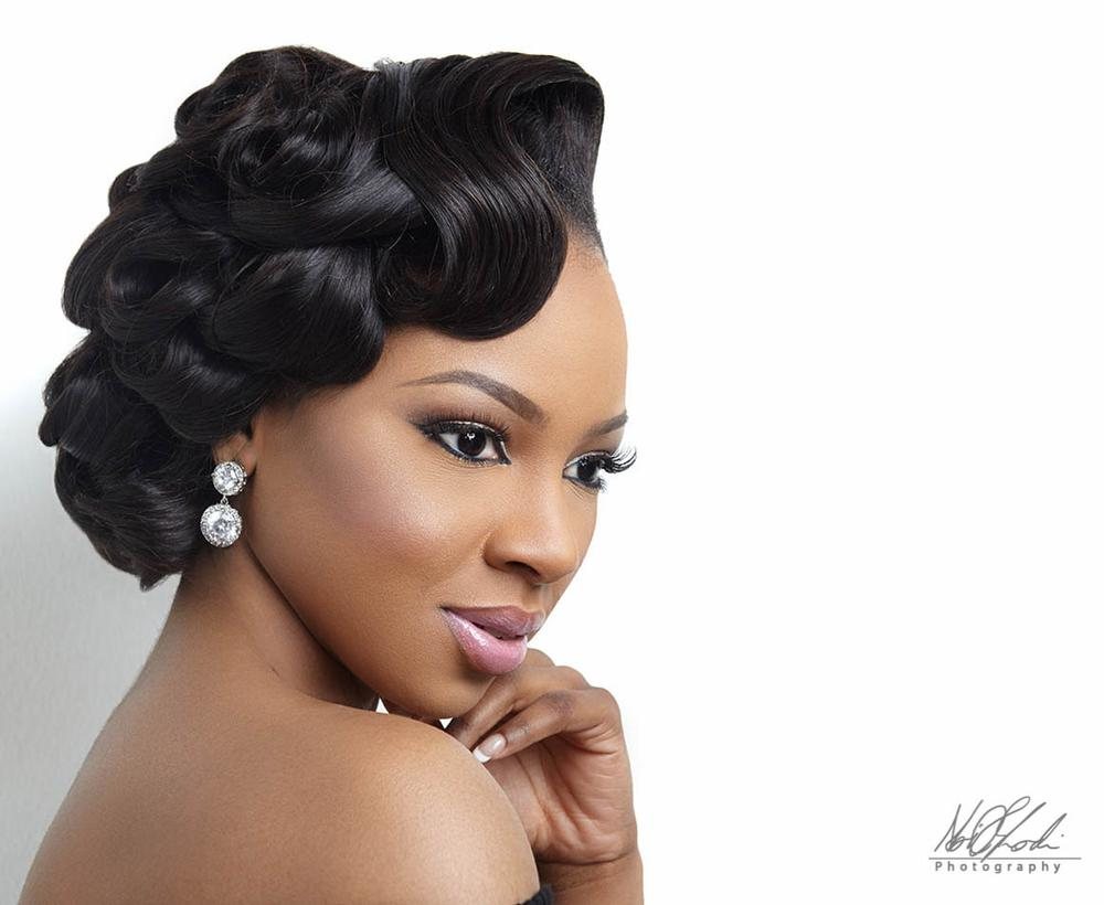 Imelda Of Beauty Boudoir Black Bride Makeup BellaNaija Weddings 4