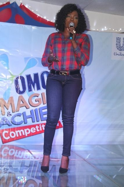 Omo Brand Ambassador, Funke Akindele at the Omo Imagine and Achieve grand finale in Lagos