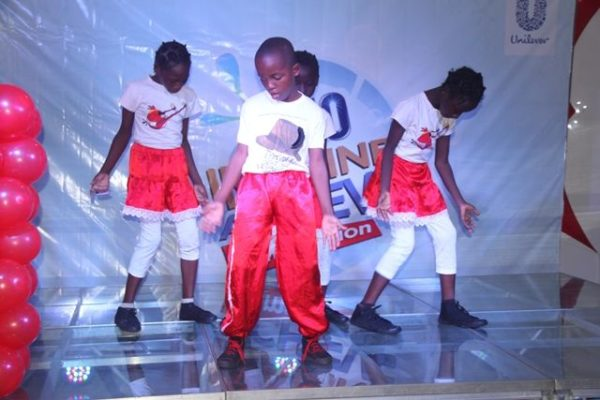 Choreography session at the Omo Imagine and Achieve grand finale in Lagos