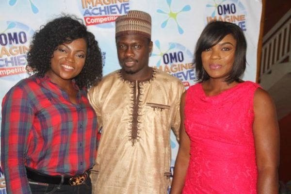 Omo Brand Ambassadors: Funke Akindele, Ali Nuhu and Chioma Akpotha at the Omo Imagine and Achieve Competition grand finale in Lagos