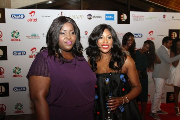 P&G's Commercial & Brand Operations Director, Enekabor Ehinomen and CEO, EbonyLife TV, Mo Abudu