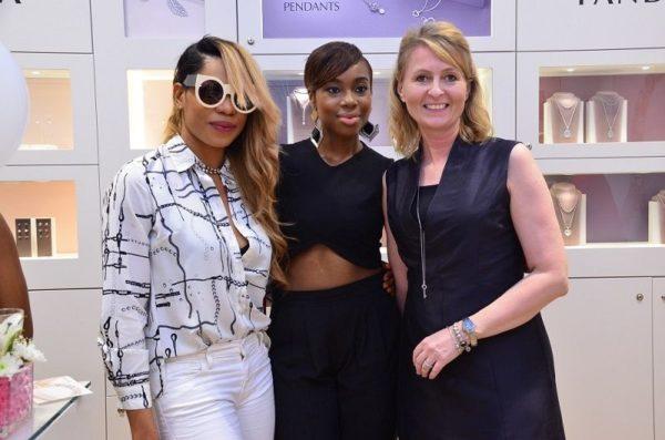 [L-R] Yvonne Nwosu, Maria Okanrende & Charlotte Obidairo