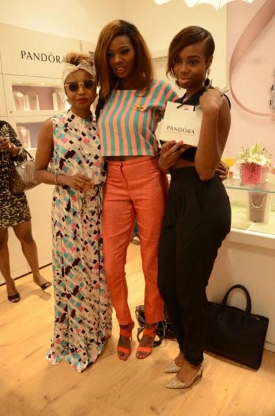 [L-R] Zed-Eye, Mercy Ajisafe & Maria Okarande