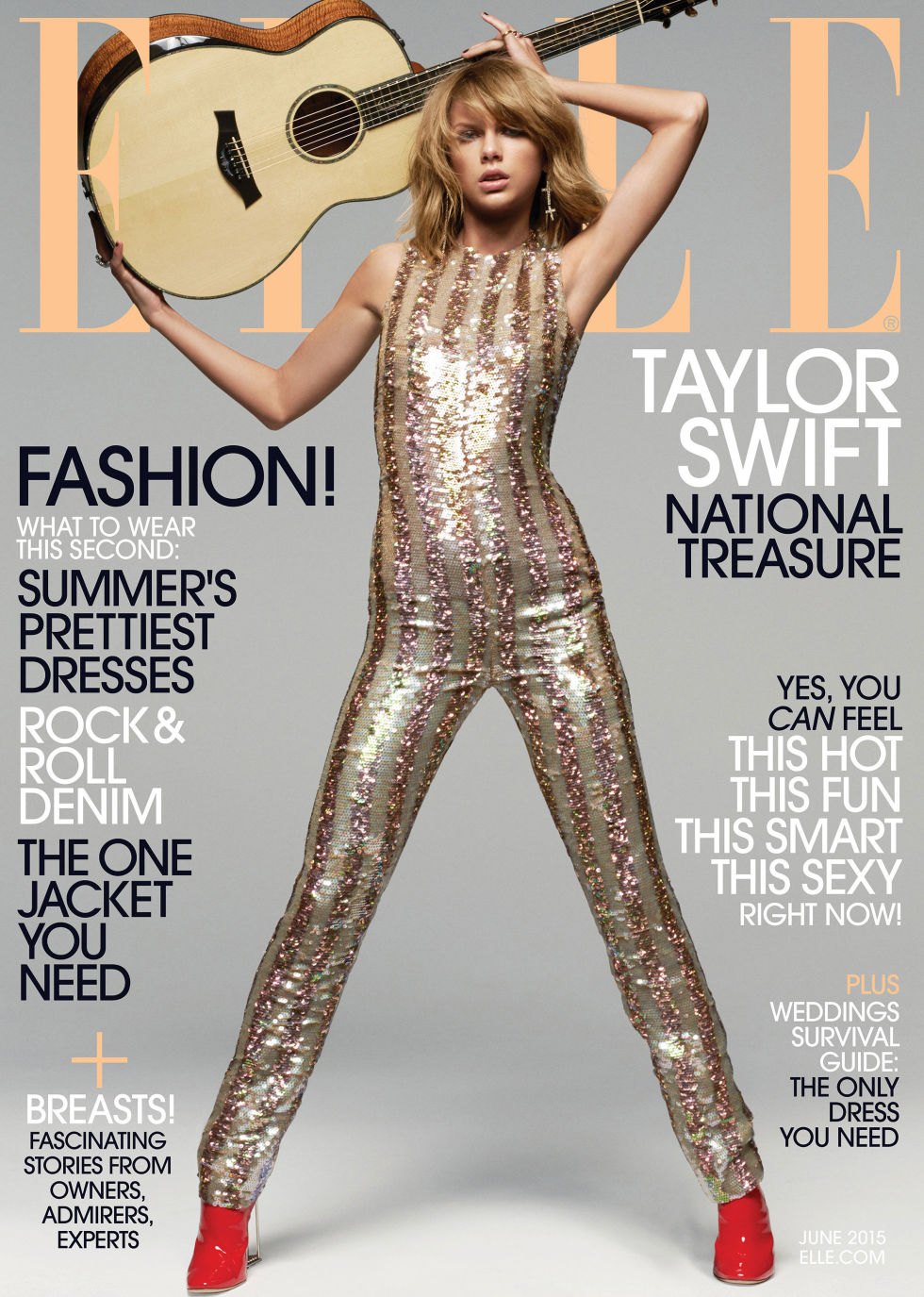 Elle Magazine France February March: Taylor Swift Is Rockstar Chic And Talks About Finding