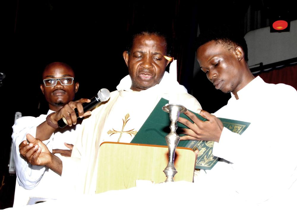 the Holy Mass for CPC 2015 at the University of Lagos main auditorium ...