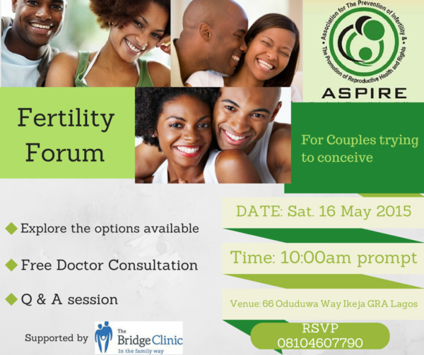 ASPIRE Fertilty Forum - BellaNaija - May2015001