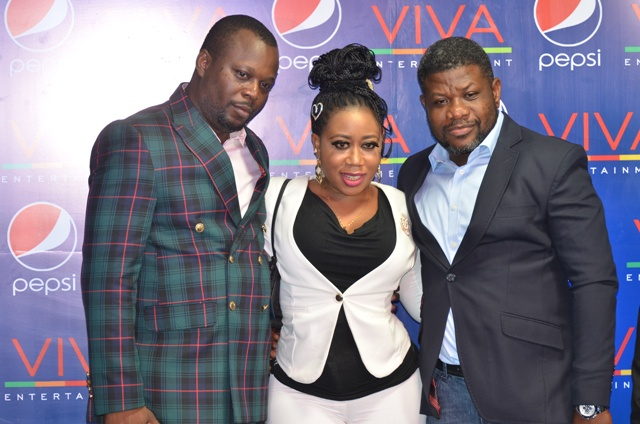 Movie producer and head of the 50 Naira story initiative, Yinka Odunuyi, Moyo Lawal and another guest
