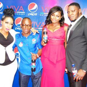 Moyo Lawal, Brand Manager, Seven-up Bottling Company, Segun Ogunleye, Chukwudi Rozan & Brand Manager, Viva Cinema, Tony Sam-Uje