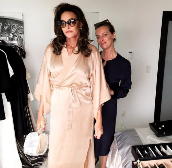 Caitlyn Jenner and stylist for the Vanity Fair Shoot, Jessica Diehl