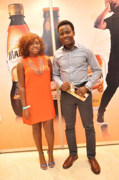 Phoebe Larry-Izamoje (Assistant Brand Manager, Maltina) & Wole Adedeji (Senior Brand Manager, Maltina)