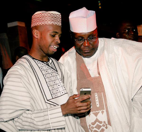 Atiku and his son BellaNaija