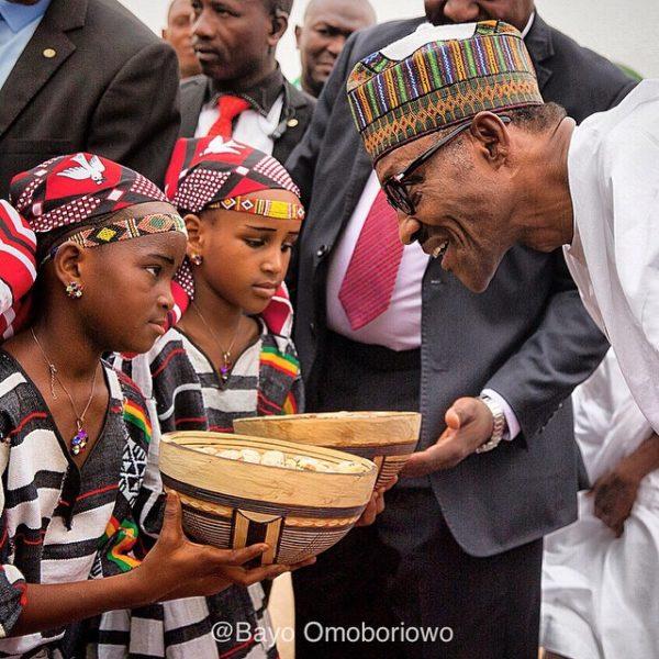 Buhari Warm welcome