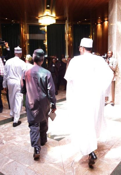 Buhari and Osinbajo move into Presidential Villa