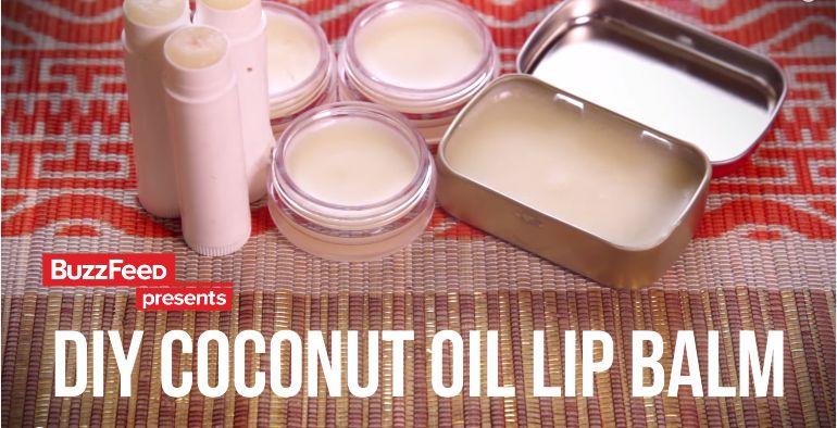 BuzzFeedVideo DIY Coconut Oil Lip Balm - BellaNaija - June2015