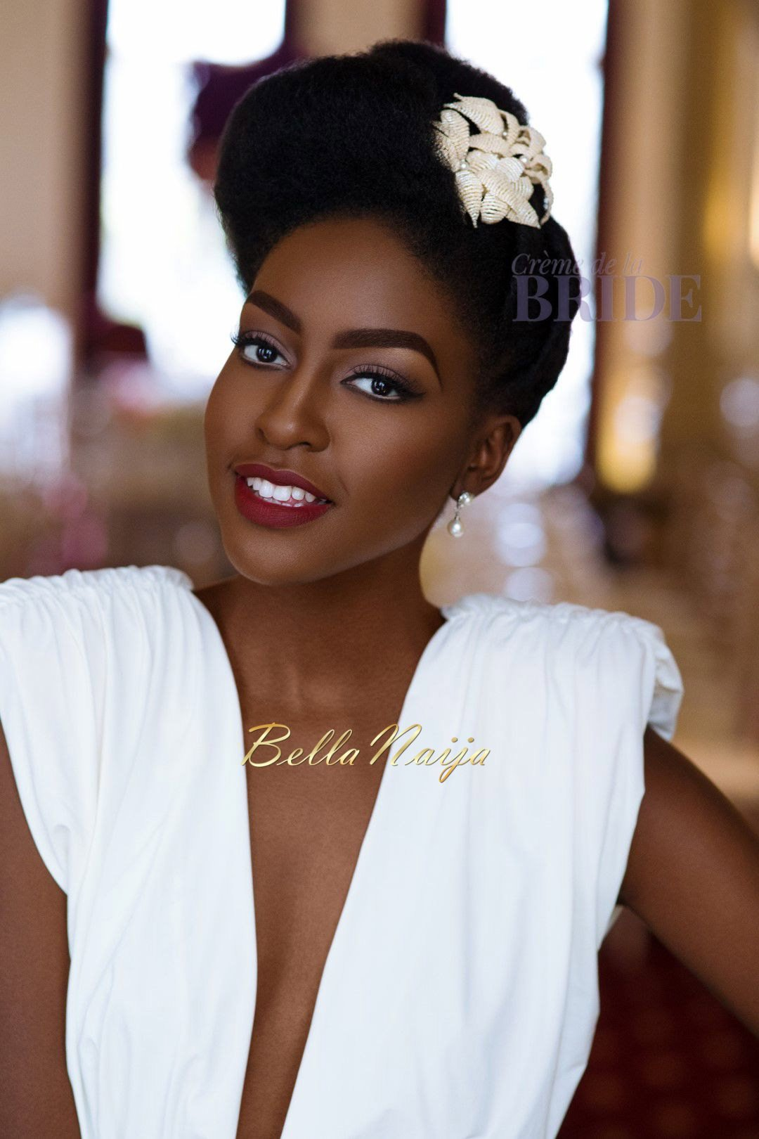 Dionne Smith Natural Hair Bride Inspiration  - Bellanaija - June2015001