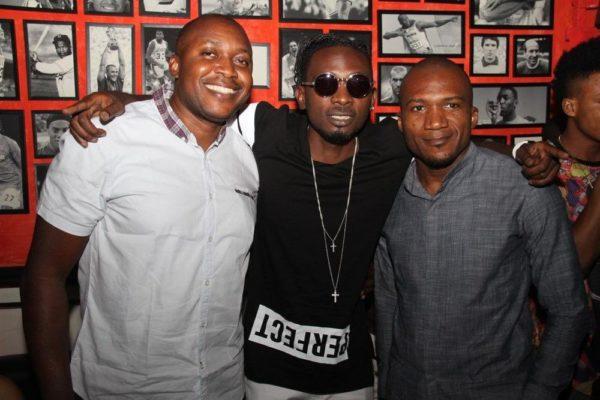 [L-R] Elvis Daniel (Head, Youth Segment, Etisalat Nigeria), May D & Obinna Chisom-Nze (Public Relations, Etisalat Nigeria)