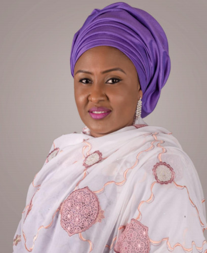 First Lady Aisha Buhari's Official Portrait BellaNaija