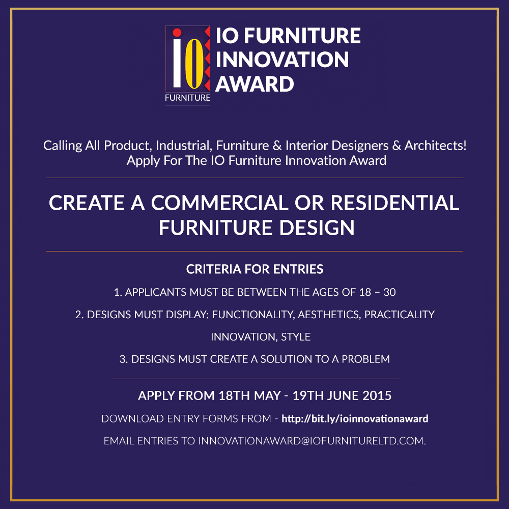 Only 2 Weeks Left To Apply For The Io Furniture Innovation Award Bellanaija