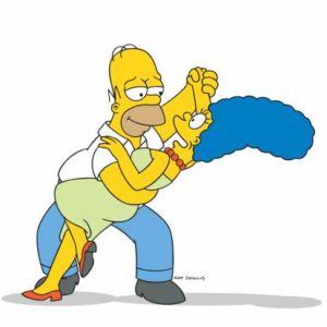 THE SIMPSONS: Homer and Marge Simpson on THE SIMPSONS on FOX.  THE SIMPSONS ™ and © 2002 TCFFC ALL RIGHTS RESERVED