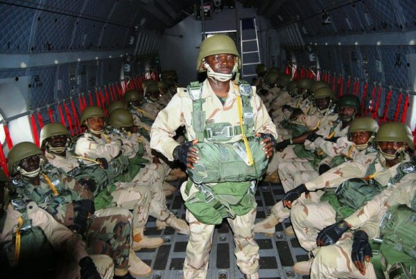 Nigerian Army paratroopers