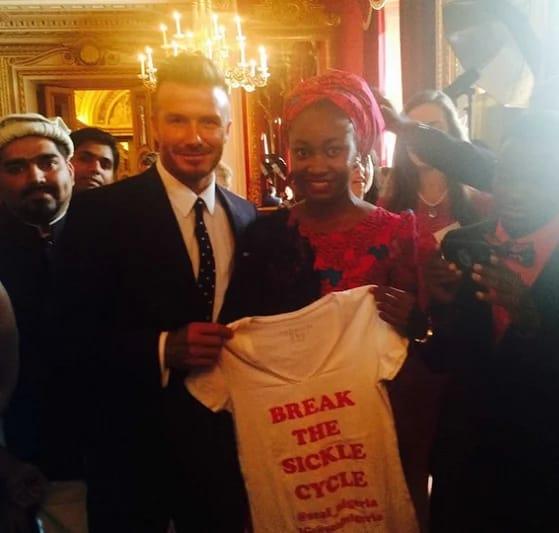 Nkechi Azinge and David Beckham