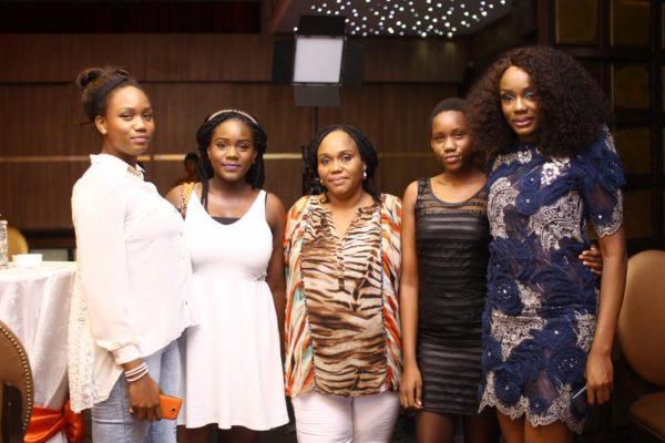 Ono with Tega, Efe, Josephine & Mine Obukowho