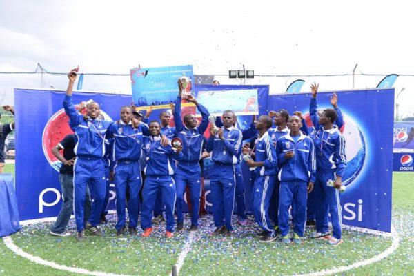 Pepsi Football Academy Scholarship winners with the winning team Team Kaduna