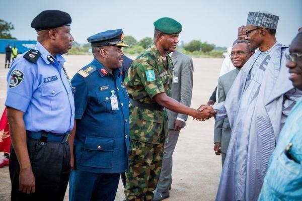 President Muhammadu Buhari in Kaduna