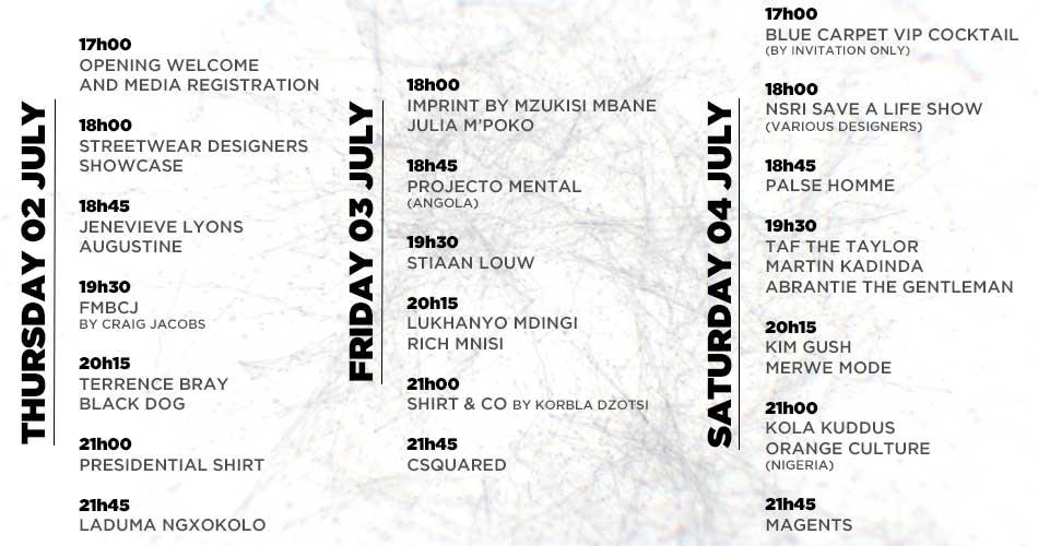 South African Menswear Week Schedule - BellaNaija - June2015