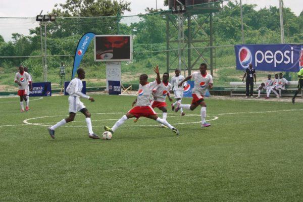 Teams Playing at the PFA Selection Exercise at Fun Turf Abeokuta
