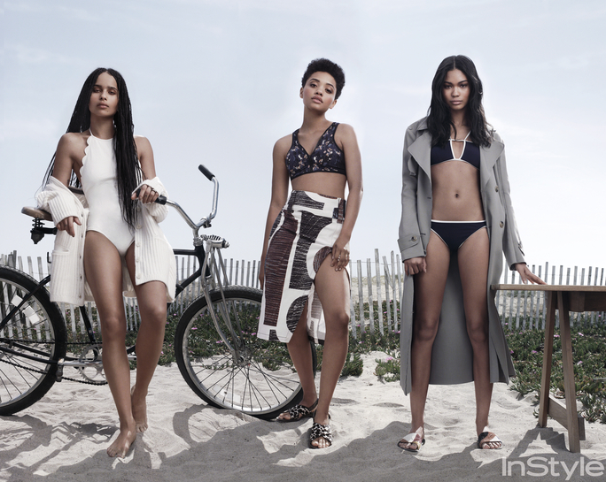 Zoe Kravitz , Kiersey Clemons and Chanel Iman for InStyle July 2015 - BellaNaija - June2015001