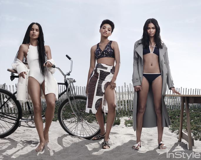 Zoe Kravitz , Kiersey Clemons and Chanel Iman for InStyle July 2015 - BellaNaija - June2015001