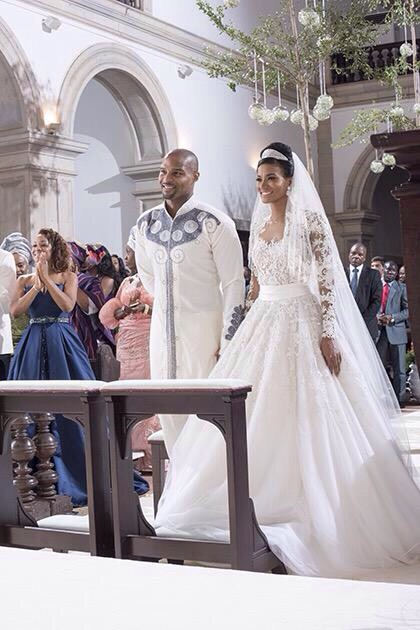 Leila Lopes & Osi Umenyiora wedding