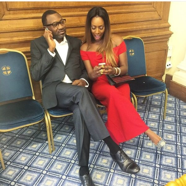 Cuppy and Femi Otedola