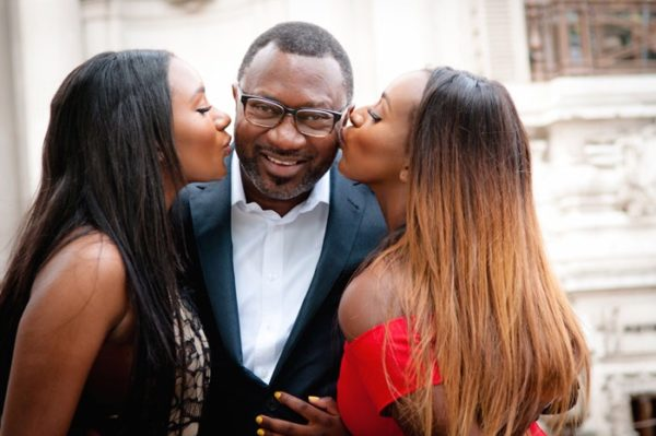DJ Cuppy, Temi Otedola and Femi Otedola