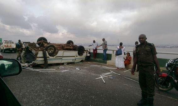 Accident on 34d Mainland Bridge 1 BellaNaija