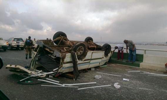 Accident on 3rd Mainlandbrideg3 BellaNaija