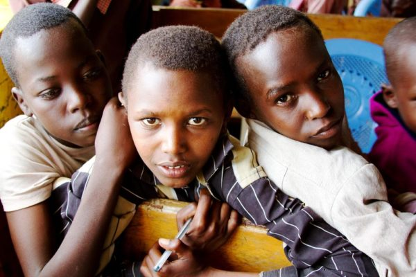 African Boys in School
