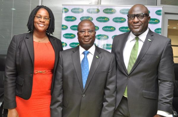 [L-R] Jameelah Ayedun (Managing Director, Credit Registry Services), Olufemi Williams (Group Managing Director, Chams PLC) & Luqman Balogun (Deputy Managing Director, Chams PLC)