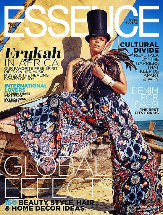 Erykah Badu for Essense Global Issue - BellaNaija - July2015001