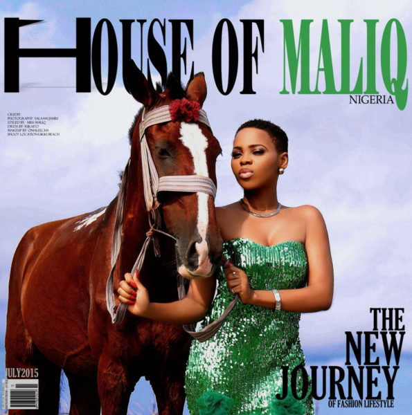 HouseOfMaliq-Magazine-Cover-2015-Chidinma-Ekile-posing-with-a-horse-horse-photography-June-Edition-2015-Editorial-LL