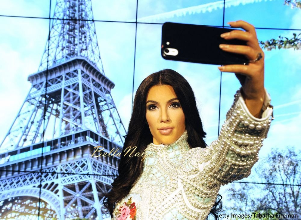 Kim Kardashian West Madam Tussauds Wax Selfie Figure - Bellanaija - July2015001