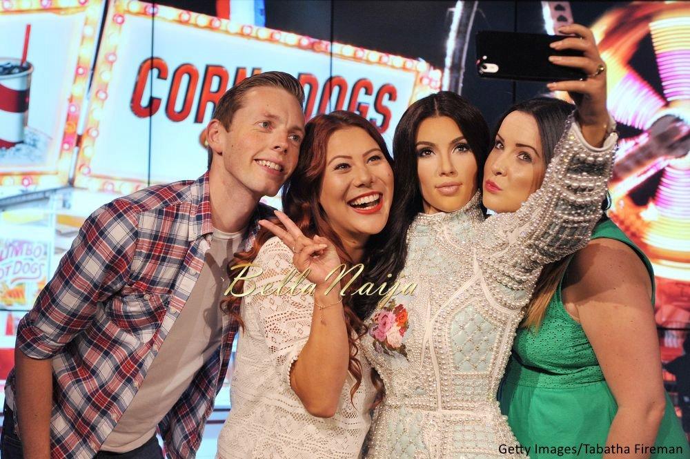 Kim Kardashian West Madam Tussauds Wax Selfie Figure - Bellanaija - July2015002