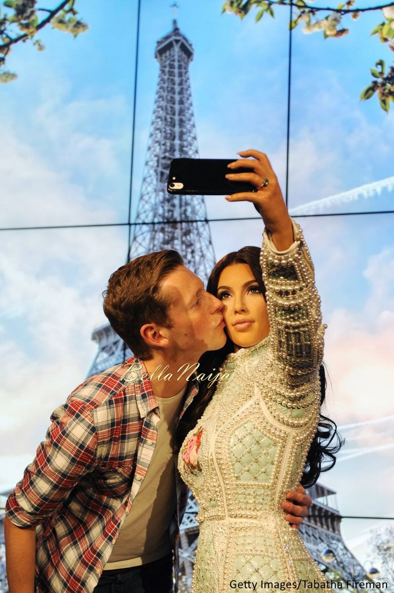 Kim Kardashian West Madam Tussauds Wax Selfie Figure - Bellanaija - July2015003